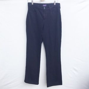 NYDJ Bootcut black jeans Lift Tuck size 10.
